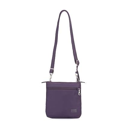 76624832c2cd Pacsafe Women's Citysafe Cs50 Anti-theft Crossbody Purse - Mulberry Travel  Cross-Body Bag, 22 cm