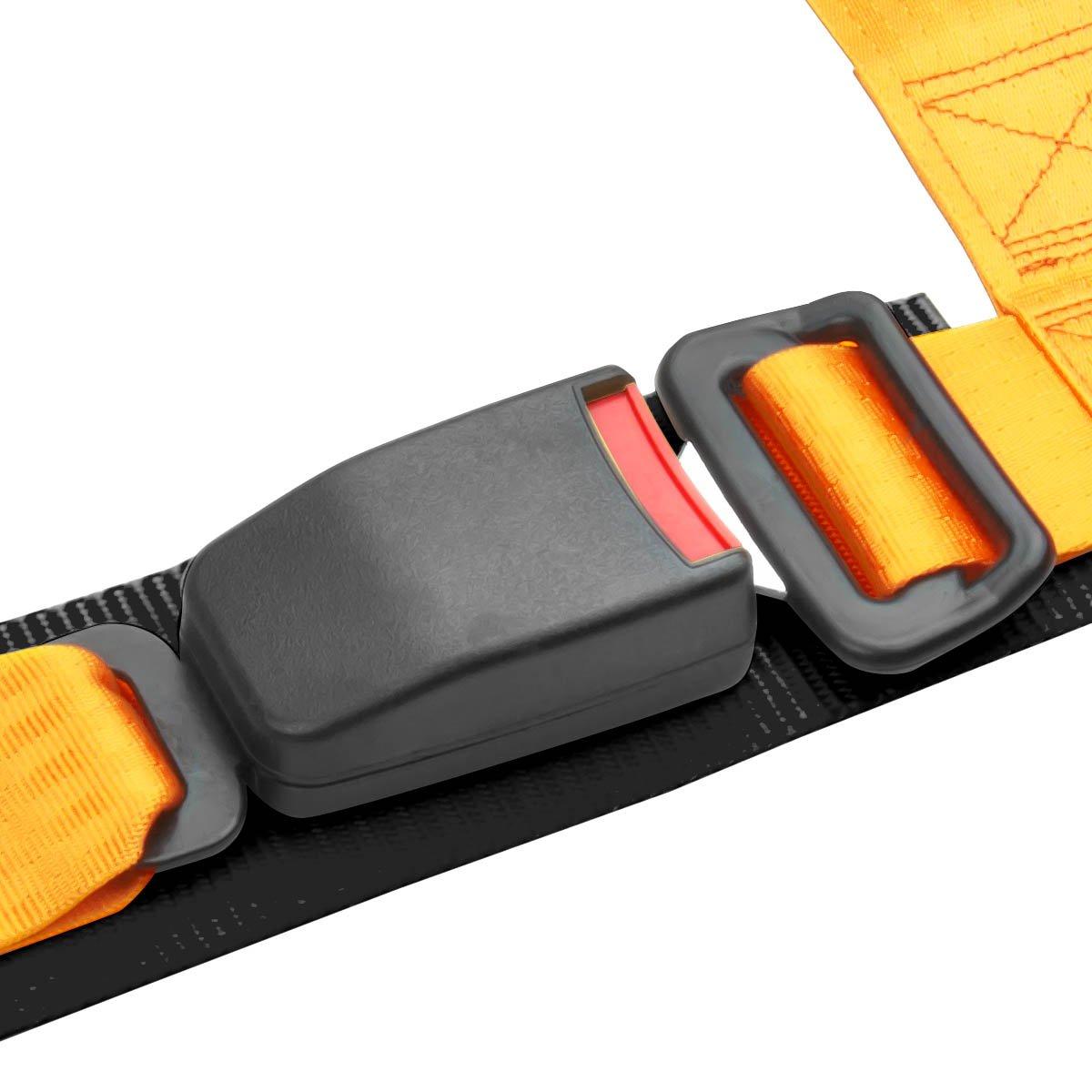 Par de rs-012-rd-bk tela fijo bucketracing asiento + oro hebilla ...