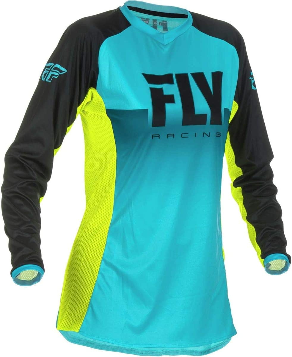 SMALL Fly Racing 2019 Girls Lite Jersey WHITE//BLACK