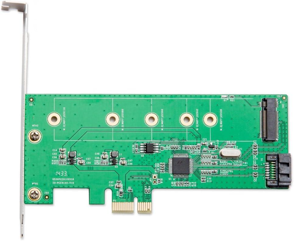 IOCrest SI-PEX50069 M.2 NGFF SDD SATA III Port PCIe x1 Controller card