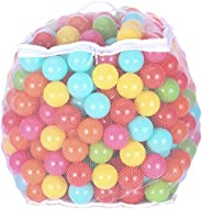 BalanceFrom 2.3-Inch Phthalate Free BPA Free Non-Toxic Crush Proof Play Balls Pit Balls- 6 Bright Colors in Re