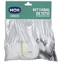 Kit Varal de Teto, Mor, Branco