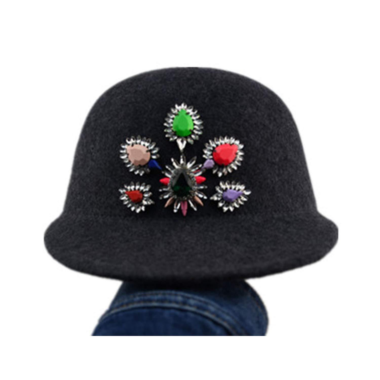 1 Xivikow 2019 Fashion Korean Fashion Wool Feather Lady hat Women Fashion hat 650