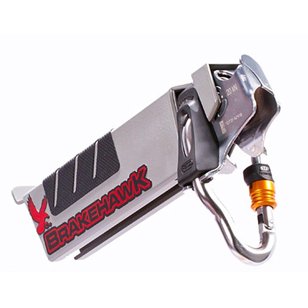 Brakehawk braking system with 2017 Petzl TRAC zipline pulley by OmniProGear
