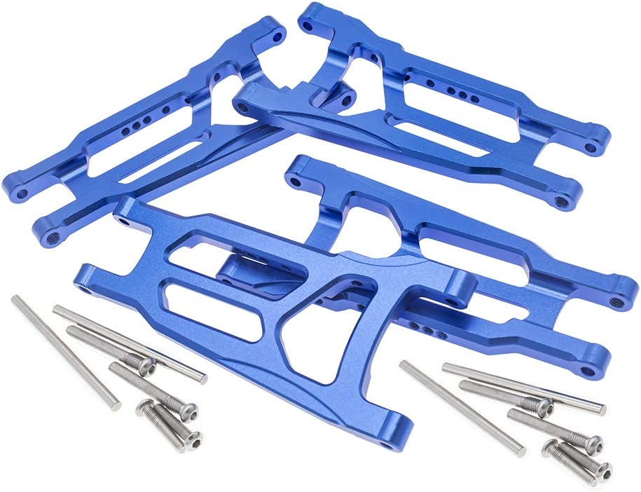 Stampede Rustler 4WD VXL-Replaces Part 3655 4-Pack Alloy Front/&Rear Suspension Arms for Traxxas 1//10 4X4 Slash