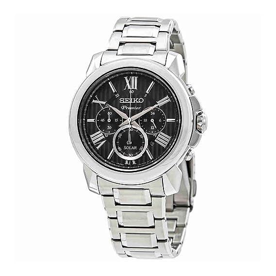 Seiko Premier Reloj Solar de cuarzo para hombre ssc597: Amazon.es: Relojes