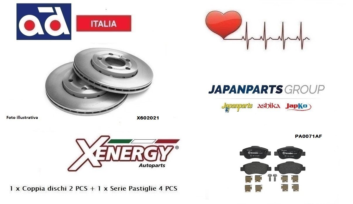 Pastiglie Anteriori Japanparts Dischi Ventilati Xenergy