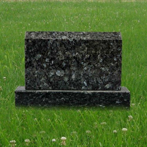 Blue Pearl Granite Mini Upright Monument Gravemarker Headstone Gravestone MN-183