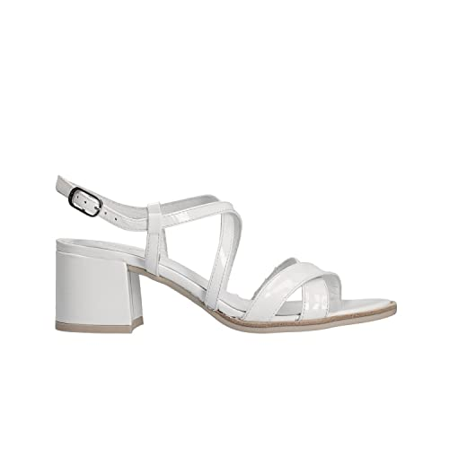NERO GIARDINI sandali donna con tacco vernice bianco n. 36 P805833D 5833 .