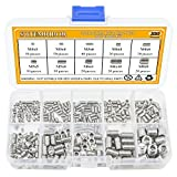 Sutemribor M3/4/5/6/8 Stainless Steel Internal Hex Drive Cup-Point Set Screws Assortment Kit 10 Sizes, 320PCS