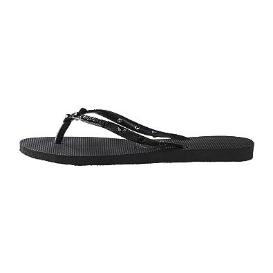b58f26726c02 Havaianas Slim Hardware - Black Dark Grey (Synthetic) Womens Sandals 5 UK