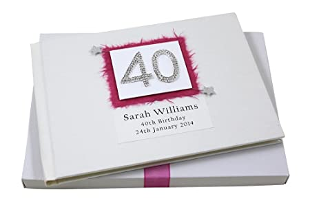 personalised 40th birthday guest book boxed amazon co uk kitchen