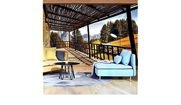 Welt-der-Träume - Papel pintado para pared, 130 g/m², no tejido, vista desde la terraza, 11696_VEN-AW, papel pintado, fotomural decorativo, multicolor, V4 (254cm. x 184cm.): Amazon.es: Bricolaje y herramientas