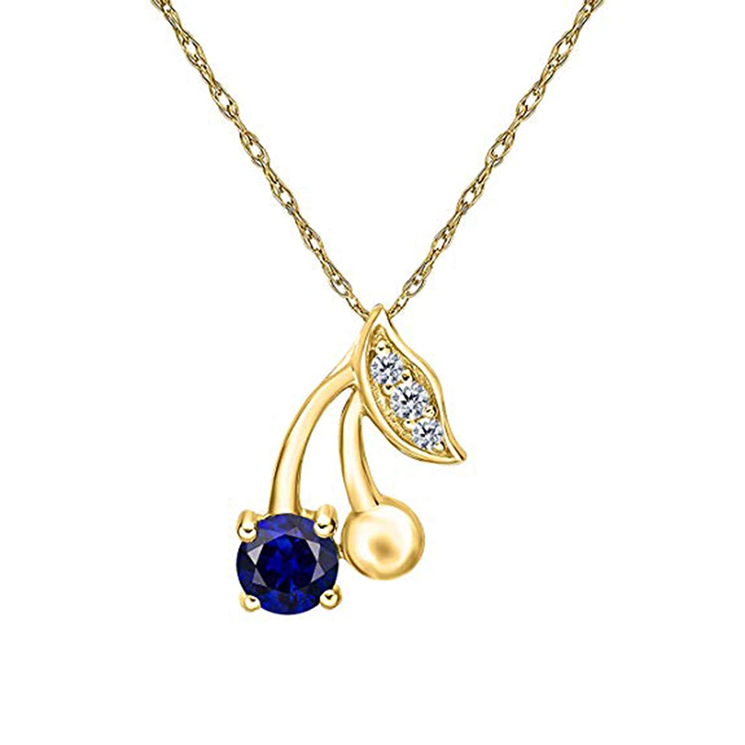 Silverraj Jewels Mothers Day Special-14K Gold Plated Simulated Diamond Studded Love Heart Pendant