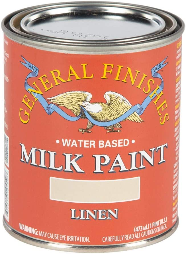 General Finishes Water Based Milk Paint, 1 Pint, Linen
