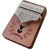 Kalimba de 17 Teclas, Instrumento Musical Portátil, Madeira - Loijon