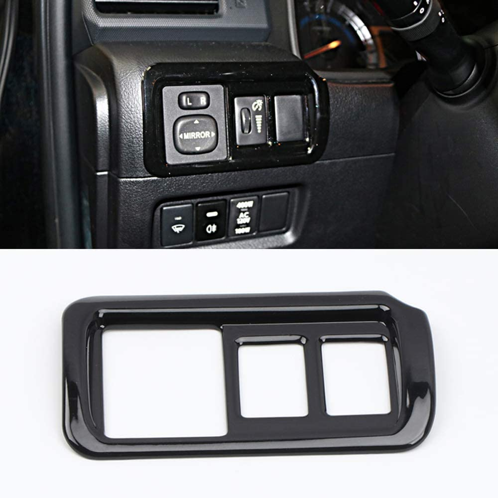 NOT Fit Right Hand Drive YUZHONGTIAN 2010-2019 for Toyota 4Runner Car Inner Accessories Head Light Lamp Switch Decor Trim ABS Carbon Fiber Style