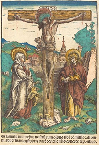 Fine Art Print | Lucas Cranach the Elder | Christ on the Cross Between the Virgin and Saint John c. 1502 | Vintage Wall Decor Poster Reproduction | 30in x 44in ()