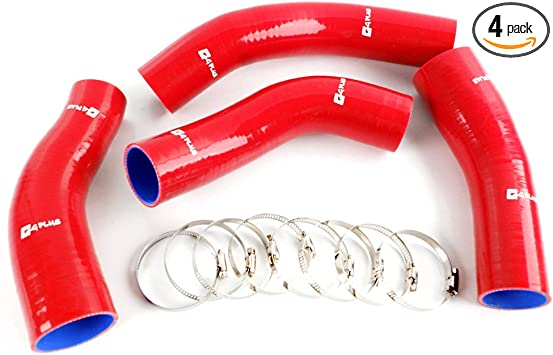 Turbo Intercooler Piping Kit 90-96 300ZX Fairlady,Piping,Coupler /& Clamp-RED