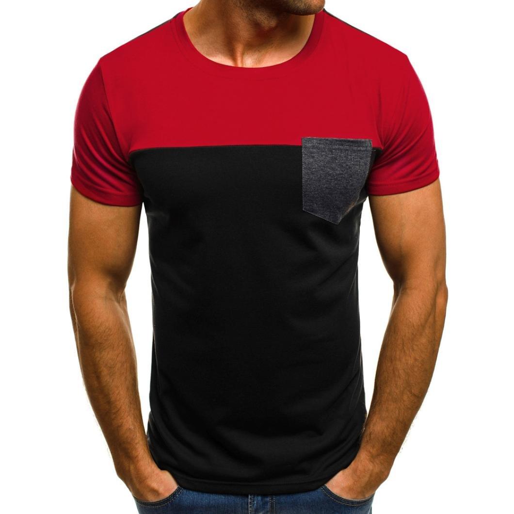 Resplend Camiseta de Manga Larga con Cuello en V y Manga Corta de Hombre: Amazon.es: Ropa y accesorios