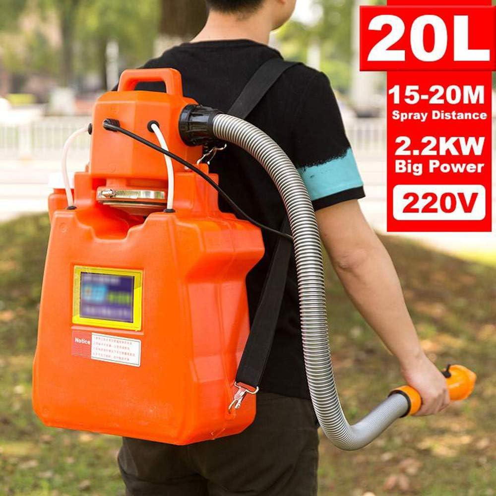 20L / 220V / 2200W Mochila Estilo ULV eléctrica pulverizador, Medio Ambiente y Agricultura Desinfección del atomizador de la máquina, Niebla Tamaño de la Gota 35μm, Rojo