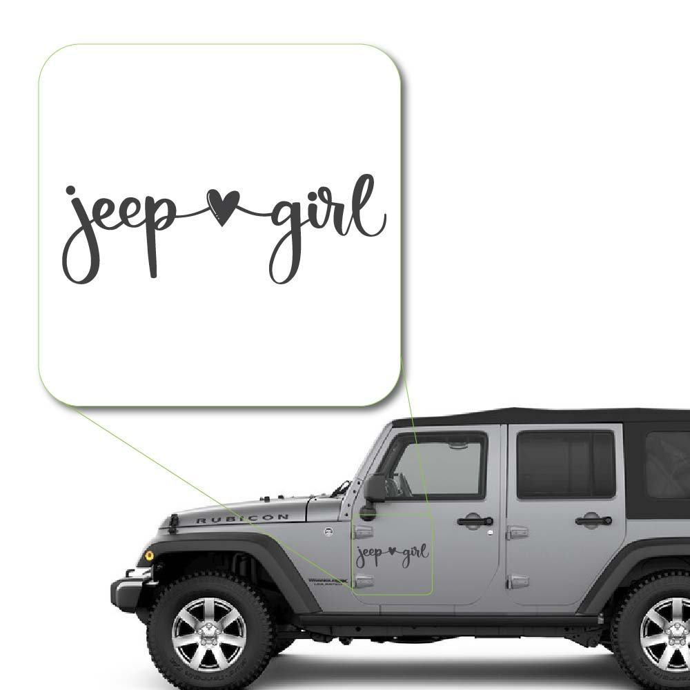 2 x 5.8, White Laptop and More Yoonek Graphics Girl Loves Jeep Decal Sticker for Car Window # 1044 # 1044 Laptop and More 2 x 5.8