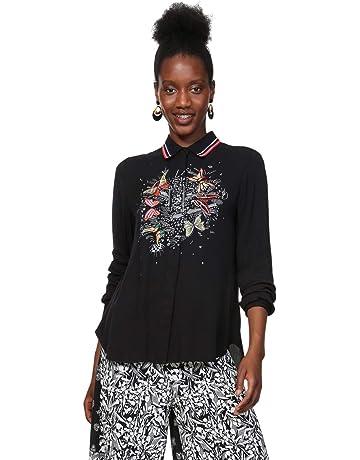 526984faf30b2 Desigual Shirt Long Sleeve Dinia Woman Black Chemise Femme