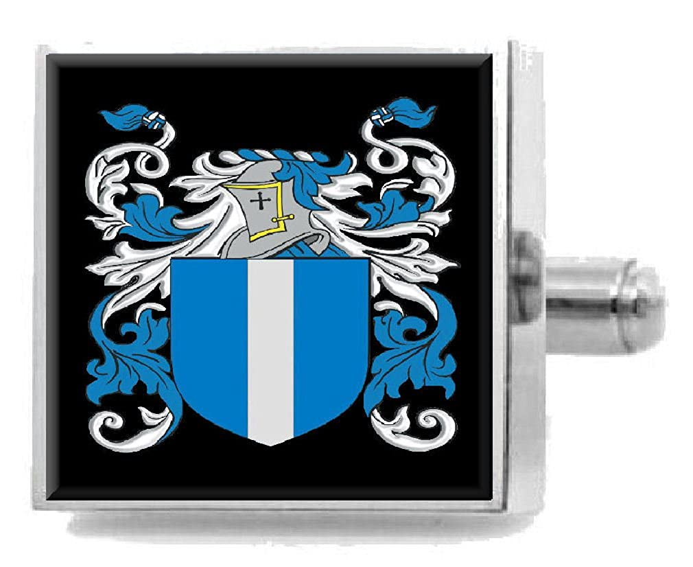 Select Gifts Mcculloch Scotland Heraldry Crest Sterling Silver Cufflinks Engraved Box