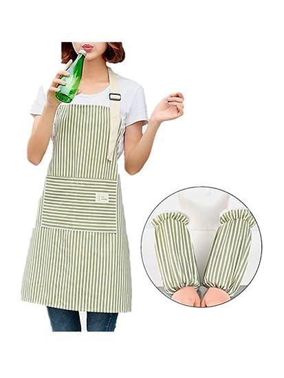 Traje de manga de delantal, delantal de cocina, moda para ...