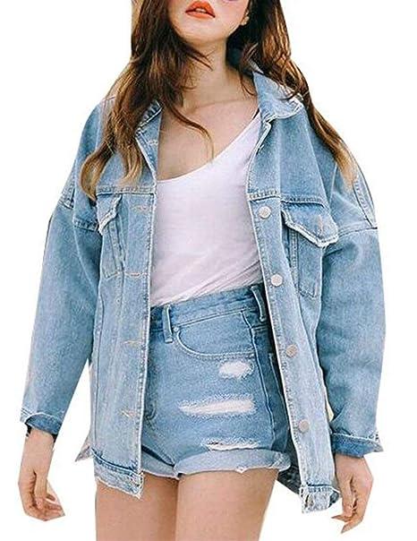BOLAWOO Mujer Chaquetas De Mezclilla Primavera Otoño Anchos Chaqueta Hippie Mode De Marca Caluroso Boyfriend Chaqueta Abrigos Outerwear Streetwear Style ...