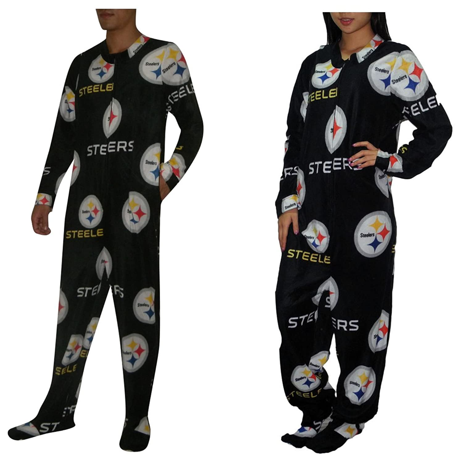 NFL Pittsburgh Steelers Adult e Piece Footed Romper XL Multicolor