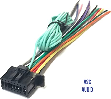 car wiring harness plug amazon com asc car stereo power speaker wire harness plug for  asc car stereo power speaker wire