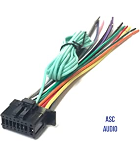 asc car stereo power speaker wire harness plug for pioneer / premier  aftermarket dvd nav radio