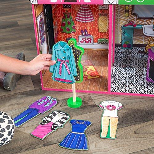 61RUmSoRkXL - KidKraft So Chic Dollhouse with Furniture