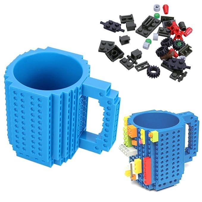OIVA Build-On Brick Coffee Mug, 12 oz (Blue)