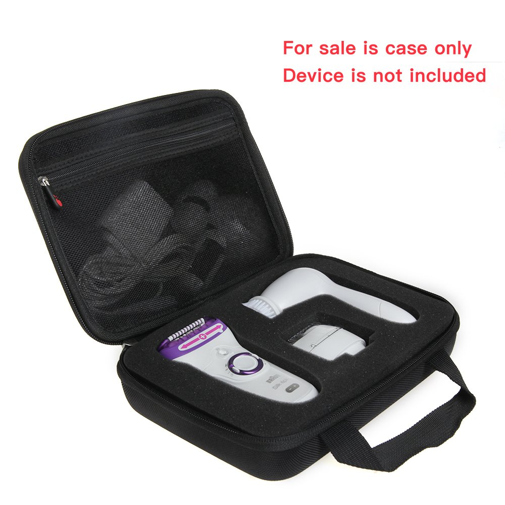 EVA Hard Protective Travel Case Carrying Pouch Cover Bag for Braun Silk-épil 9 9-579 Wet Dry Cordless Electric Hair Removal Epilator Ladies' Electric Shaver Women By Hermitshell by Hermitshell (Image #2)