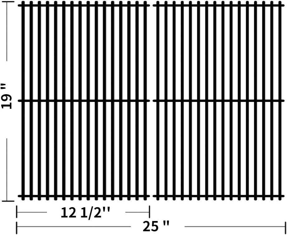 SHINESTAR 19 inch Grill Grates Replacement for Charmglow 810-0230, 810-6320, 810-7130-S, 810-7400-S, Brinkmann 810-7400-S, Grill Pro 236464, Porcelain Steel Cooking Grates Grill Parts