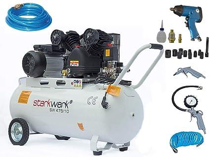 Fuerte de impresión Compresor De Aire SW 475/10 – 100L Caldera Set