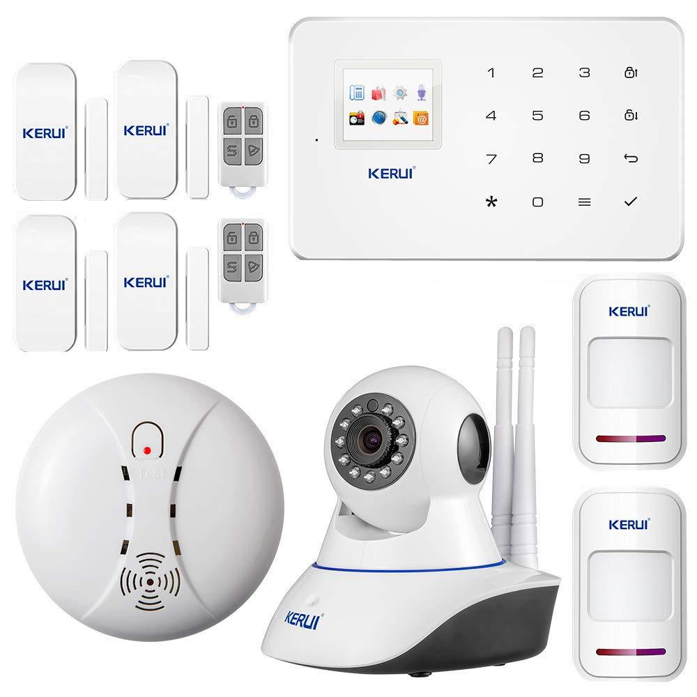 KERUI - Kit sistema de alarma GSM/SMS RFID Touch, sirena incluida