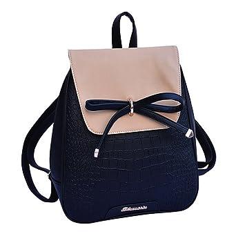 77c4c67946 FOLLOWUS Women Ladies Pu Leather Backpack Shoulder School Bag Travel  Rucksack  Amazon.co.uk  Luggage