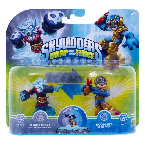 Skylanders Swapforce | Night Shift & Boom Jet | Exclusive Double Pack by Activision Blizzard (Night Shift Skylanders)
