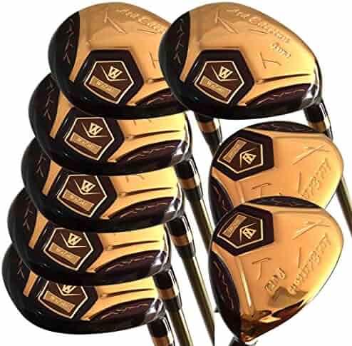 60529835b7c3 Japan WaZaki 14k Gold Finish Cyclone 4-SW Mx Steel Hybrid Irons Golf Club  Set