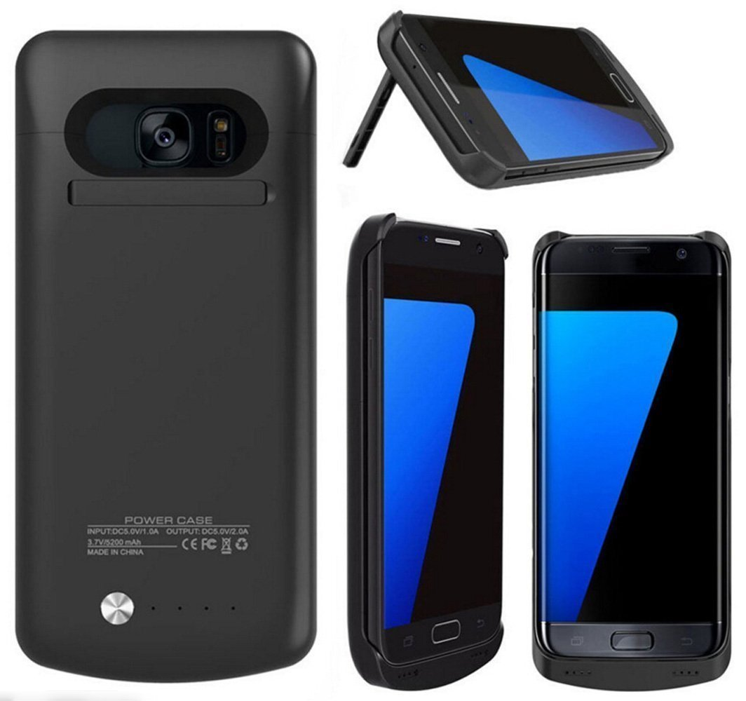 Samsung Galaxy S7 Edge Funda, 5200 mAh Batería Cargador de batería ...