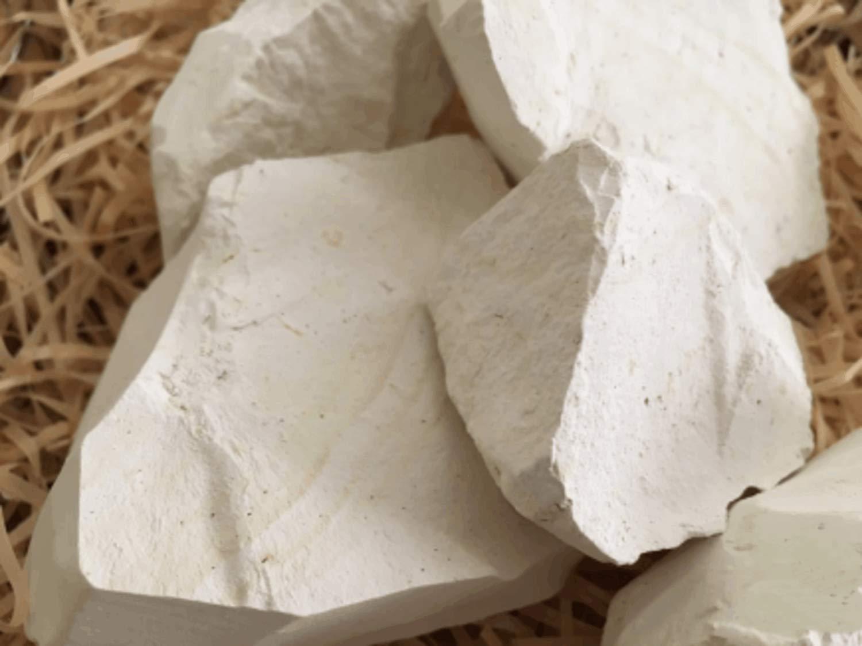 MIROPOLE edible Chalk chunks (lump) natural for eating (food), 1 lb (450 g)