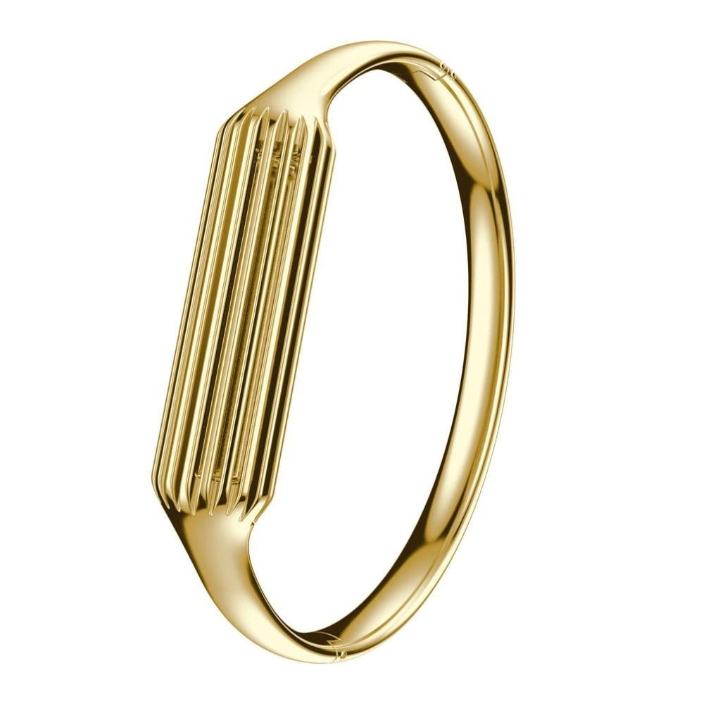 Aresh Compatible with Fitbit Flex 2 Bangle, Accessory Bracelet Band Compatible with Fitbit Flex 2, for Wrist Size: 6.3''-6.5'' (Gold)