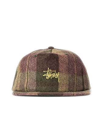 eaf4835528435 Stussy Smooth Wool Snapback Cap - Olive-One Size  Amazon.co.uk  Clothing