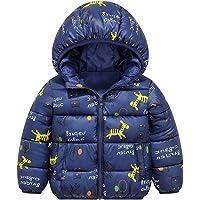 Chaqueta Bebé Niños Abrigo con Capucha para Niña Invierno Cálido Grueso Abrigo Caballo Azul 1-2 Años