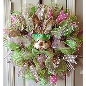 Easter Bunny Wreath. Easter Wreath, Easter Bunny, Easter Decor, Easter Decorations, Door Decor 4