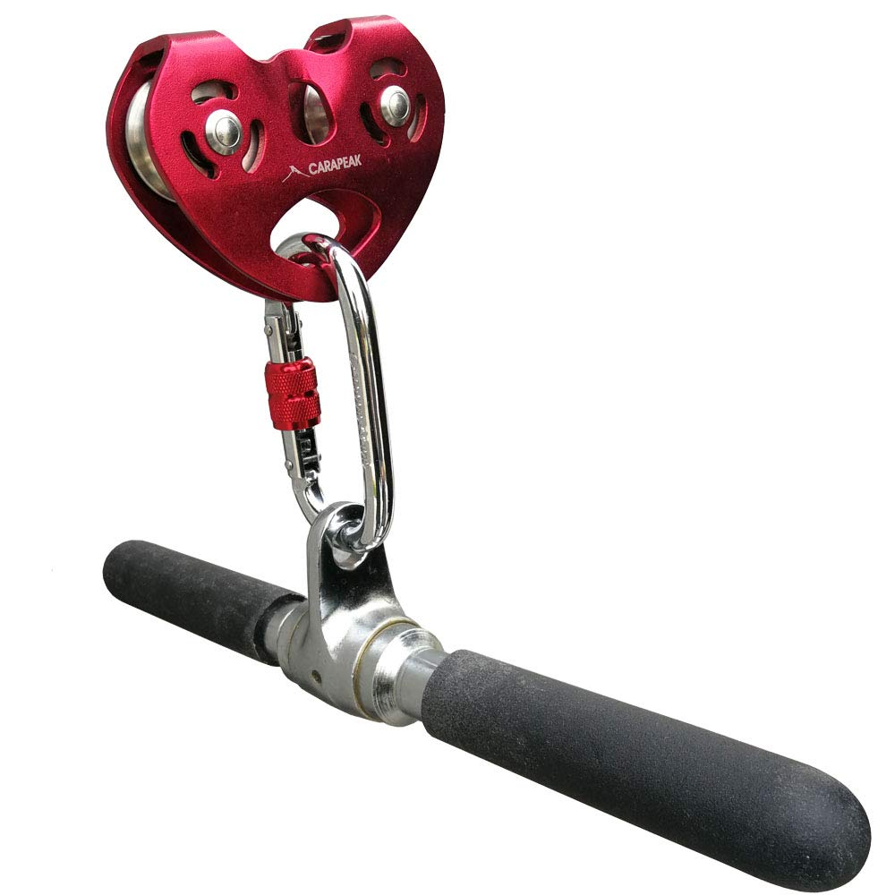 【最安値に挑戦】 Zip Line Steel Trolley with Carabiner Fits Cable Dual up to Fits 1.3cm , Zipline Dual Pulley with 25kN Steel Karabiner for Backyard, Homemade, Fits 1/4 5/16 3/22cm Cable B07BMM91MP, 【超特価】:b4590fa0 --- munstersquash.com