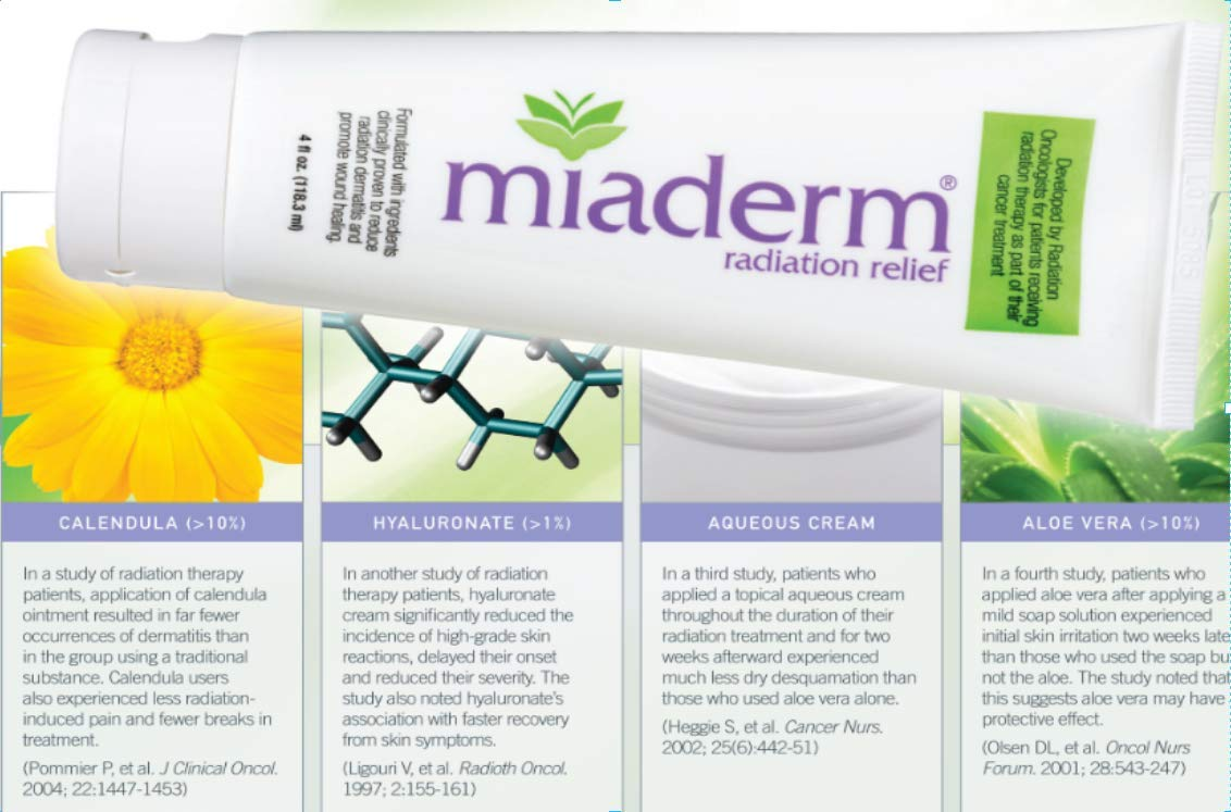 Miaderm Radiation Relief Lotion 4 Pack SPECIAL OFFER!!